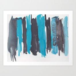 26  |  190408 Blue Abstract Watercolour Art Print