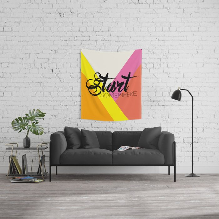 Start Somewhere Wall Tapestry