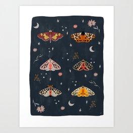 Nocturnal Moth Art Print