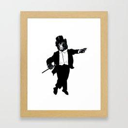 Tap Dancing Bear Framed Art Print