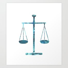 Scales of justice Art Print