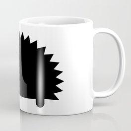 Spiky Echidna Silhouette Coffee Mug
