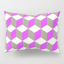 Diamond Repeating Pattern In Ultra Violet Purple and Grey Pillow Sham