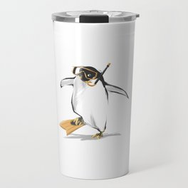 Penguin Is Ready To Dive Travel Mug