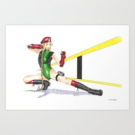 Cammy Art Print