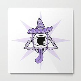 The Purple Eye Metal Print