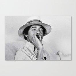 Young Barack Obama Smoking Weed Canvas Print