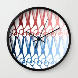 Scissors palette Wall Clock