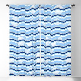 Abstract Lovely Glittery Waves Blackout Curtain