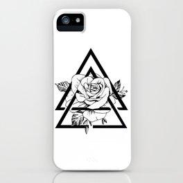 Gometric rose iPhone Case