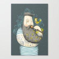 wesley bird Canvas Prints featuring Bird by Seaside Spirit