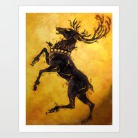 stag Art Prints featuring Stag by Narwen