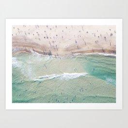 Summer Afternoon at Bondi Beach, Sydney Art Print