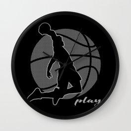 Basketball Player (monochrome) Wall Clock