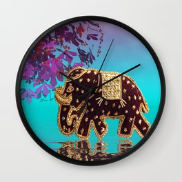 elephant fantasy -1- Wall Clock
