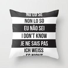 IDK Throw Pillow