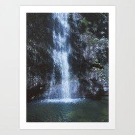 Waterfall With Rainbows Art Print