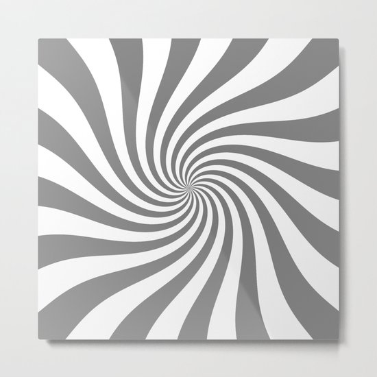 Swirl (Gray/White) Metal Print