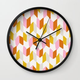 delilah, chevron pattern Wall Clock