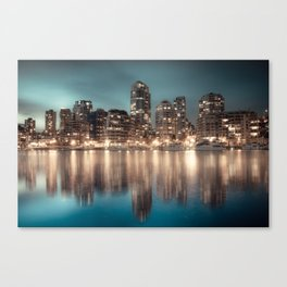 Yaletown at Night, Downtown, Vancouver BC Canvas Print
