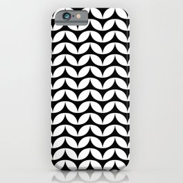 Marquis Pattern in Black and White iPhone Case