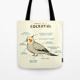 Anatomy of a Cockatiel Tote Bag