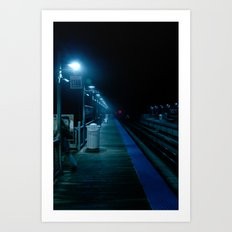 The Blue Station Art Print