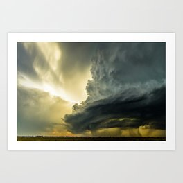 Supercell - Massive Storm Over the Great Plains Art Print