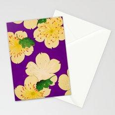 Purple Japanese Floral Vintage Pattern Stationery Cards