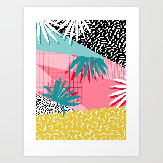 Bingo - throwback retro memphis neon tropical socal desert