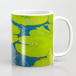Water Lily and Lily Pads Coffee Mug