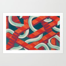 snakes and ladders Art Print