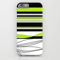 Green White Black Lines Slim Case iPhone 6s
