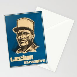 retro poster legion etrangere l affiche Stationery Cards