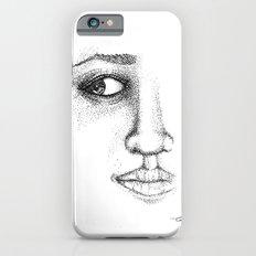 Fine Liner Stippling Girl 1 Slim Case iPhone 6s