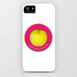 An apple a day keeps the Doctor away iPhone Case