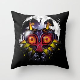 Power Behind the Mask Throw Pillow