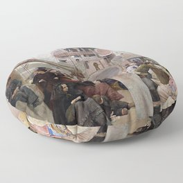 Tom Roberts Coming South Floor Pillow