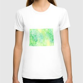 Typographic Colorado - green watercolor map T-shirt