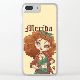 Modern Merida Clear iPhone Case