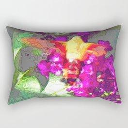 Butterfly Over Fuchsia Flowers Rectangular Pillow
