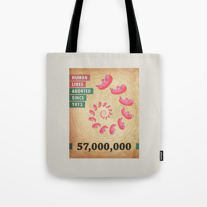 Fifty Seven Million Abortions Tote Bag