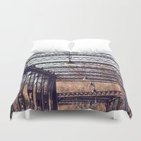 bridge Duvet Covers featuring Bridge by myhideaway