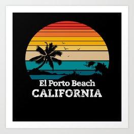 El Porto Beach CALIFORNIA Art Print