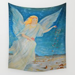 Bless me | Guardian Angels are Here | Angel of Abundance | Love Wall Tapestry
