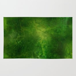 Green Crystal Marble Painting Rug