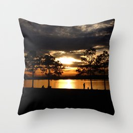 Westward the Mississippi Throw Pillow