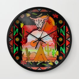 Southwest Sunset Wall Clock