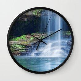 Waterfalls at Fern Pool in Karijini National Park, Western Australia Wall Clock