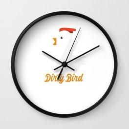 Dirty Bird Chicken Love Wall Clock